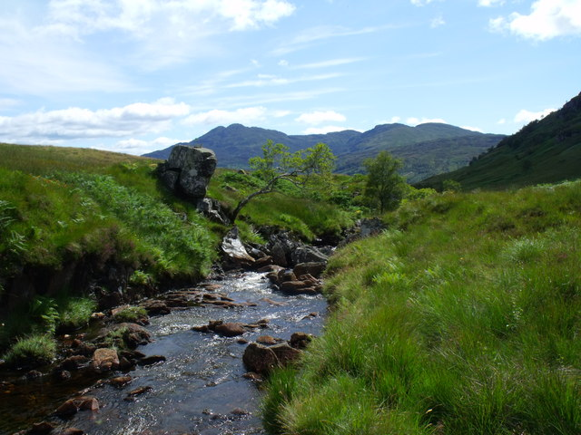Looking down the course of the Strone Burn near Loch Katrine