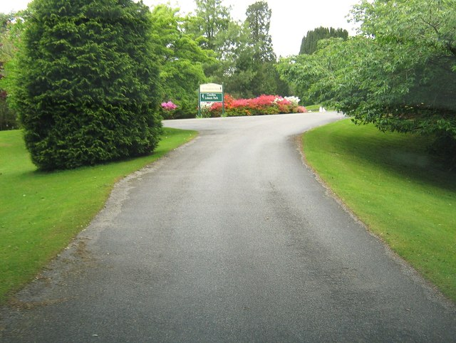A junction on the driveway to Kirroughtree House