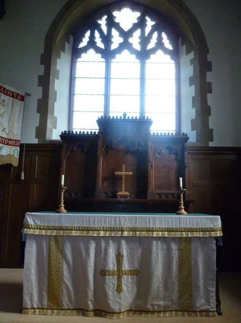 All Saints, Upper Clatford: altar