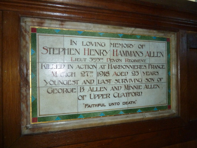 All Saints, Upper Clatford: two soldier brothers (b)
