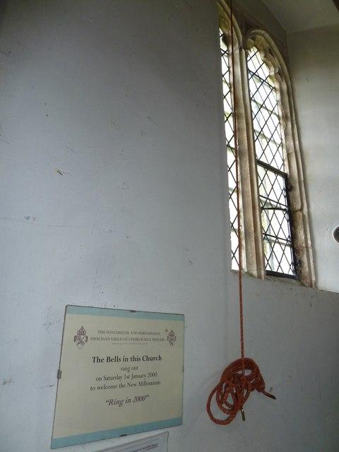 St Nicholas, Leckford: millennium commemoration