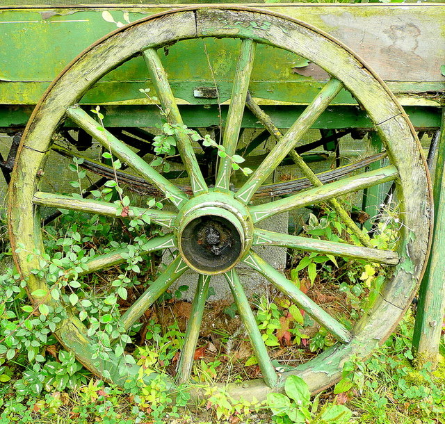 Old barrow wheel