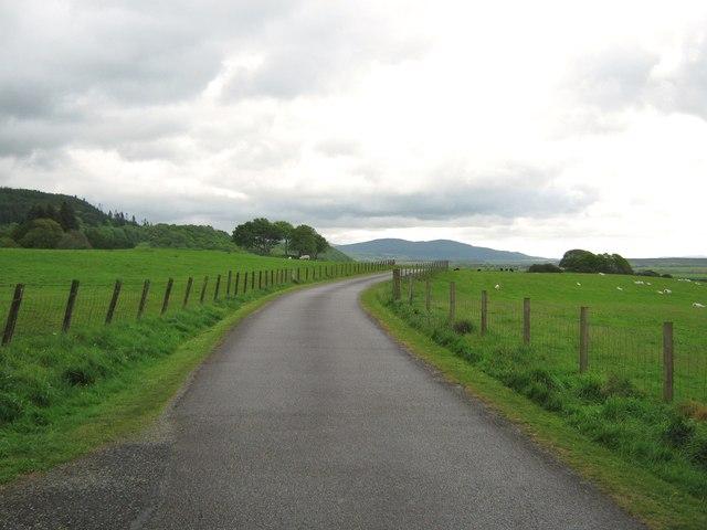 Kirroughtree House driveway looking east