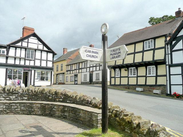 Weobley signpost