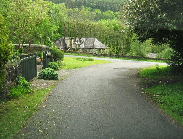 Kirroughtree House driveway meets the A712