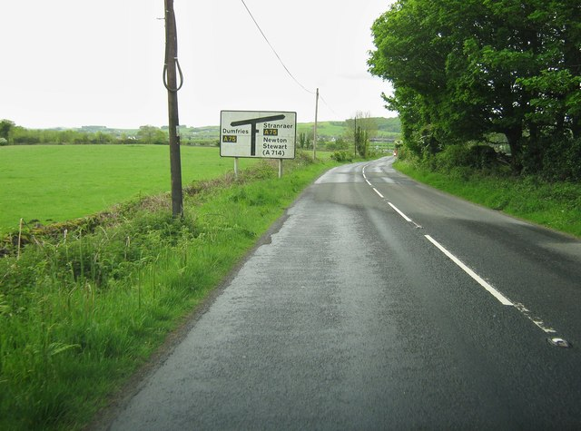 A712 approaching the A75