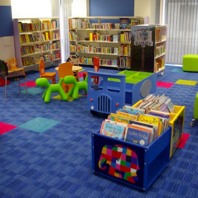 Interior of new Ramsey Library