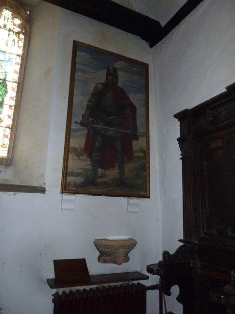 St Nicholas, Leckford: piscina