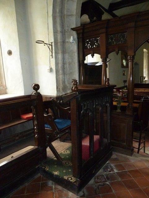 St Nicholas, Leckford: the incumbent's chair
