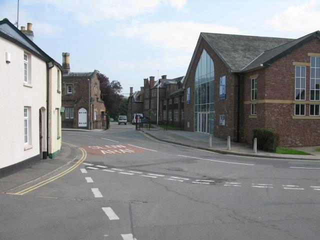 Entrance to Monmouth Boys School, Almshouse Street