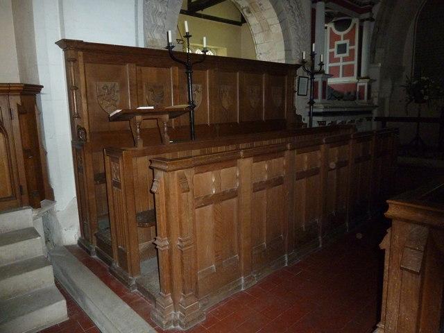 Saint Andrew, Hurstbourne Priors: choir stalls