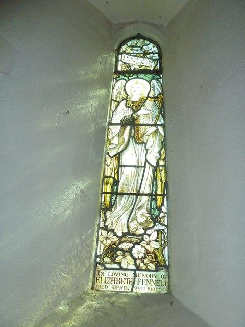 Saint Andrew, Hurstbourne Priors: side window