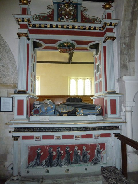 Saint Andrew, Hurstbourne Priors: tomb memorial (from the right)