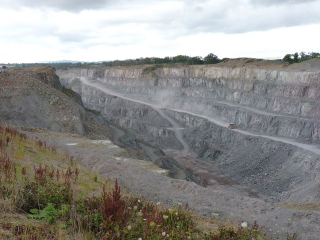 The working end of Bayston Hill quarry