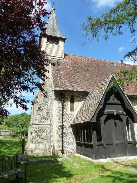Monxton - St Mary: southwestern aspect