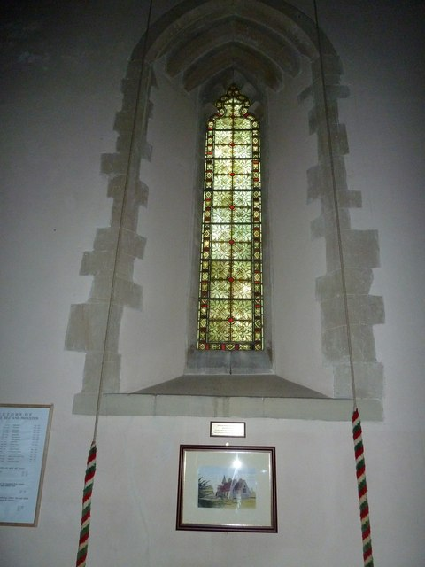 Monxton - St Mary: church window (a)