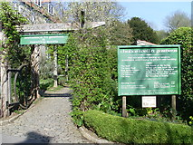 ST5038 : Entrance to the Chalice Well and Garden, Glastonbury by David Hillas