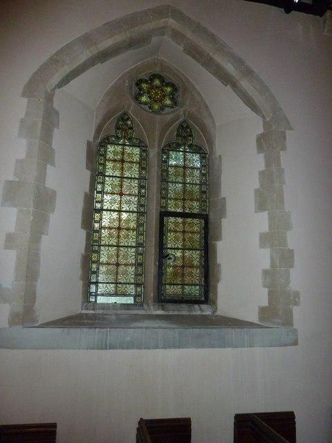Monxton - St Mary: church window (c)