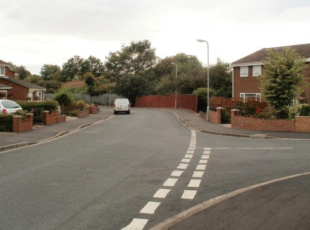 Southern end of Churchward Drive, Newport