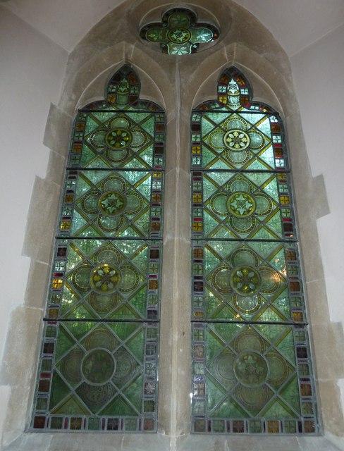 Monxton - St Mary: church window (d)