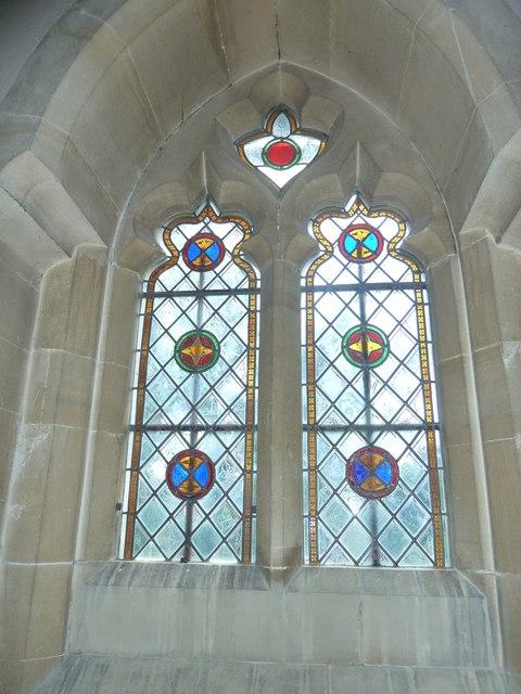 Monxton - St Mary: church window (f)