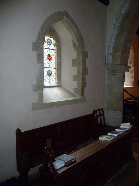 Monxton - St Mary: church window (g)