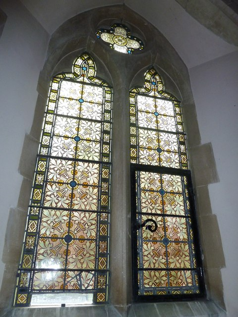 Monxton - St Mary: church window (i)
