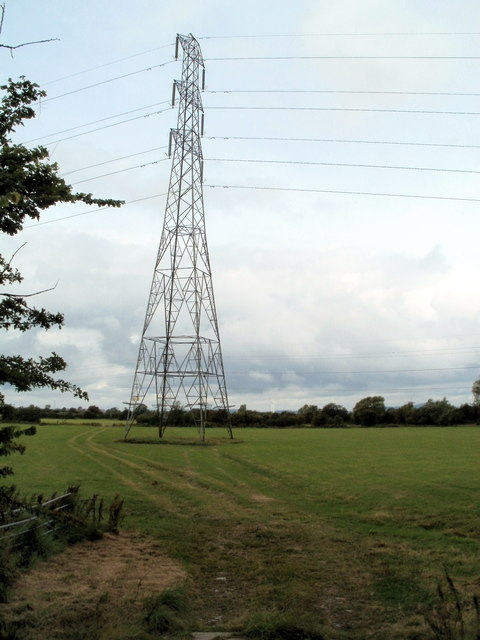 Pylon in a field north of Whitson