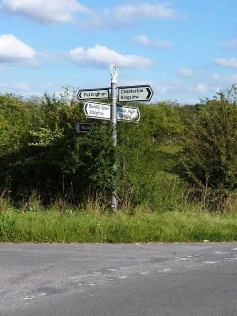 Milepost at Pasford