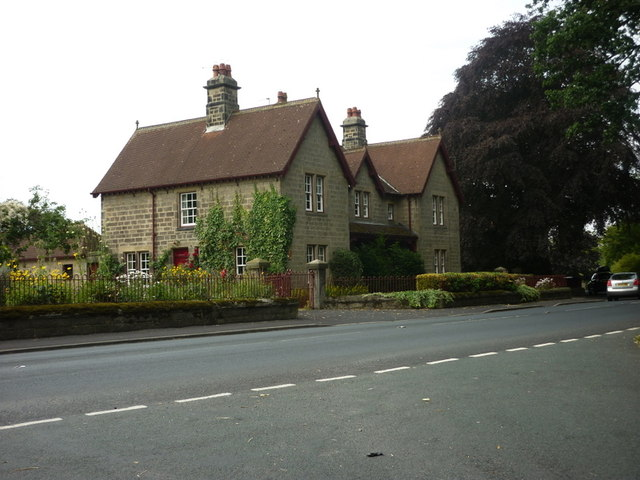 Houses on the B6165 at Nidd, North Yorkshire