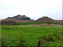 NZ2377 : 'Northumberlandia' (under construction) by Andrew Curtis