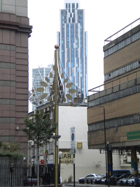 Between buildings, St Botolph Street EC3