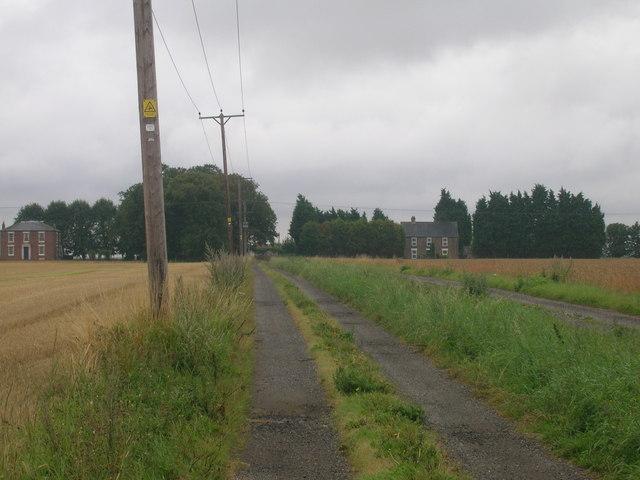 Farm track heading south, Goole Fields