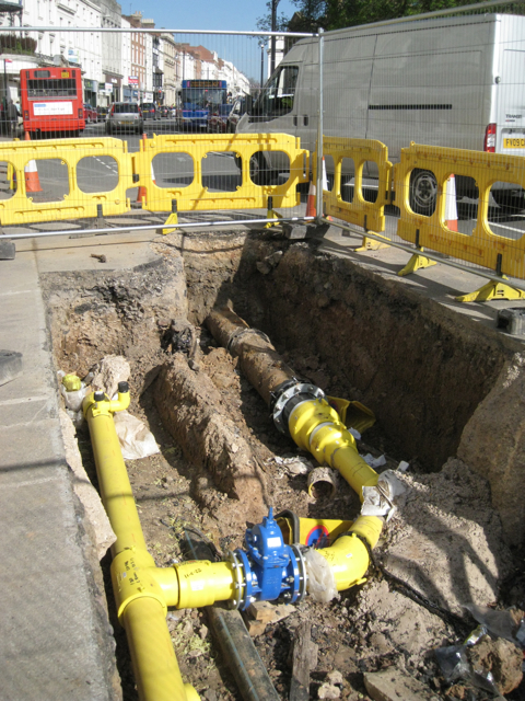 Gas mains replaced in the Parade