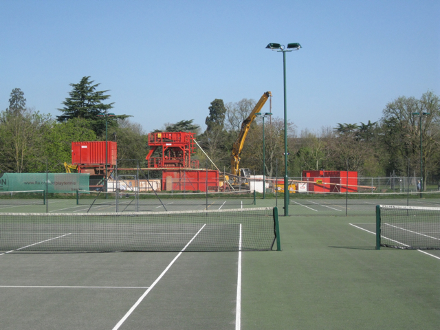 Tennis courts and contractor's plant, Victoria Park