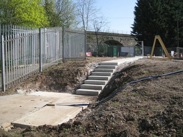 New steps at the sewage pumping station