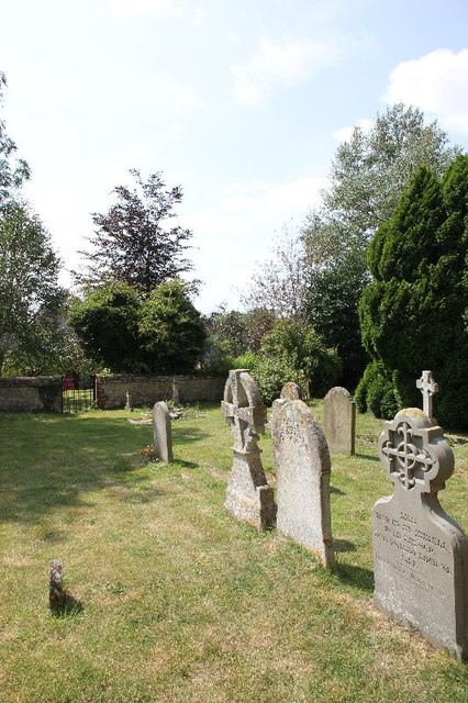 Grave stones at St James