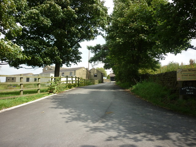 The entrance to West Chevin Farm