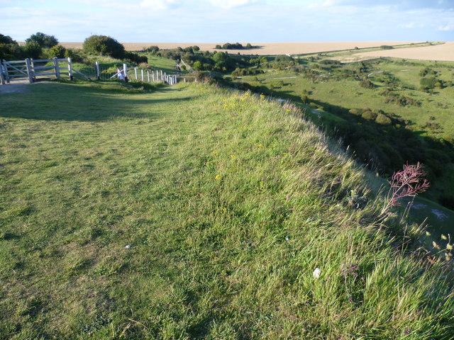 Saxon Shore Way above Langdon Hole