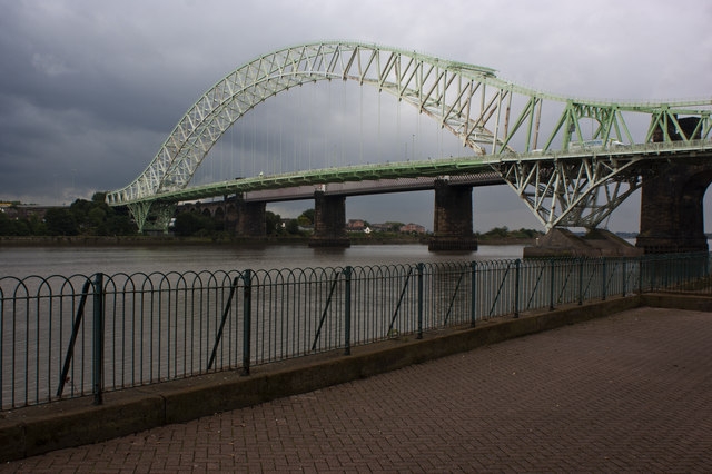 A view of the Runcorn Bridge