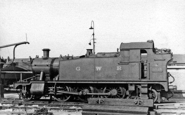 A 'Small Prairie' 2-6-2T at Gloucester GW Locomotive Depot