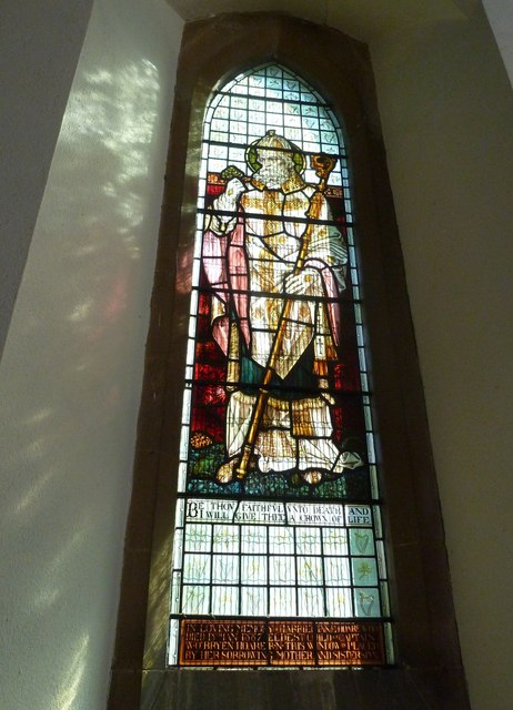 Whitchurch-All Hallows: stained glass window (1)