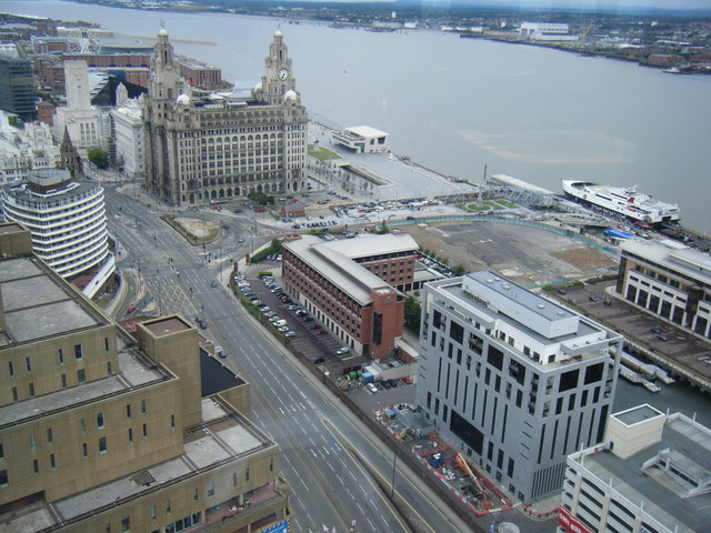 Liver Building seen from Panoramic Restaurant, West Tower