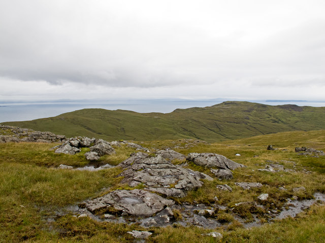 Rock outcrop on Beinn na Croise