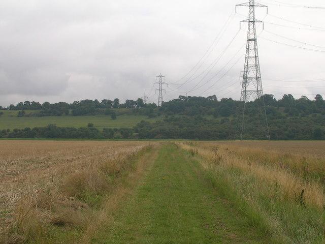 Farm track towards the River Trent
