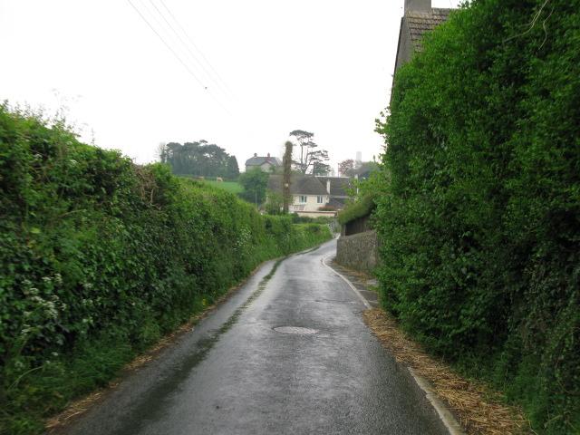 View along small lane at Saint Athan