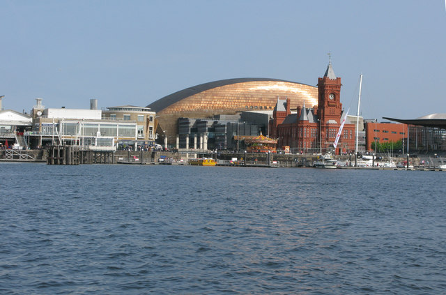 The new Cardiff Bay from the bay