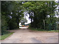 TM2559 : Footpath to Dowsing's Bridge & Entrance to Hoo Hall by Adrian Cable