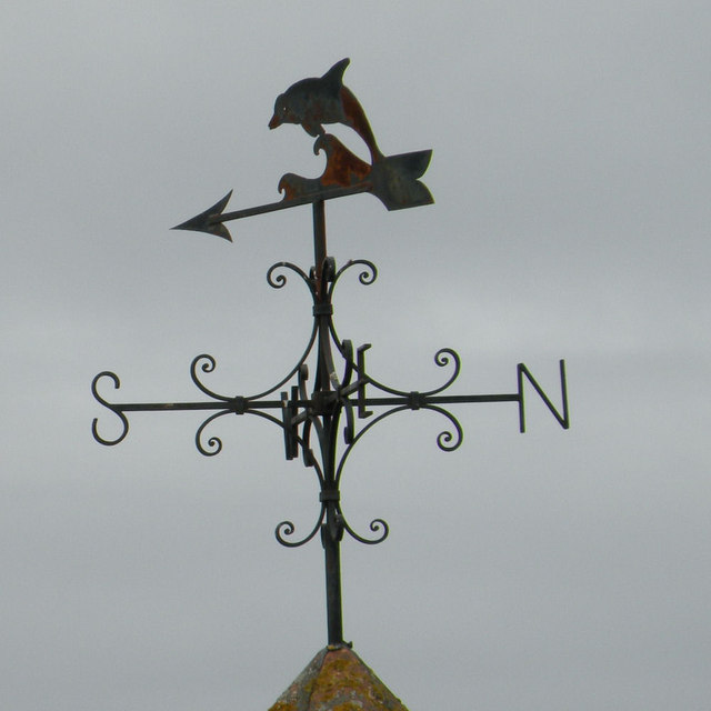 Weather vane on the Dolphin Hotel