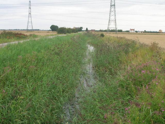 Drainage ditch near Boskeydyke farm